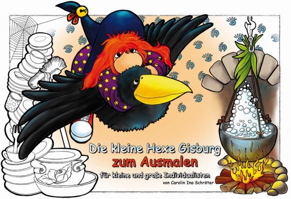 Die kleine Hexe Gisburg - Ausmalbuch